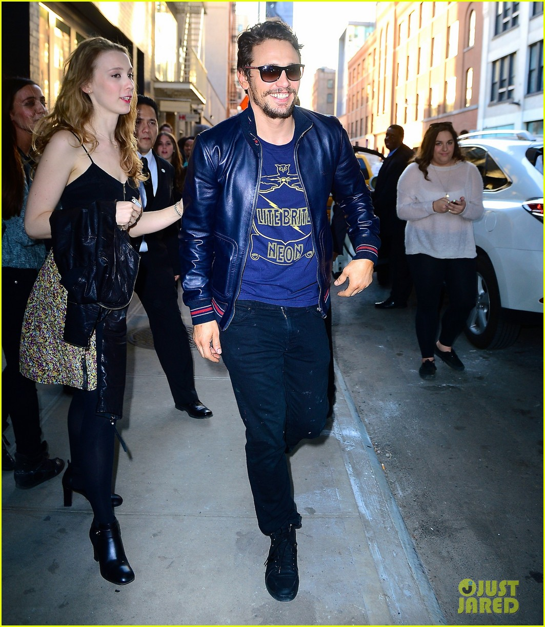 james franco is the happiest guy opening his art exhibition at pace gallery 023089075