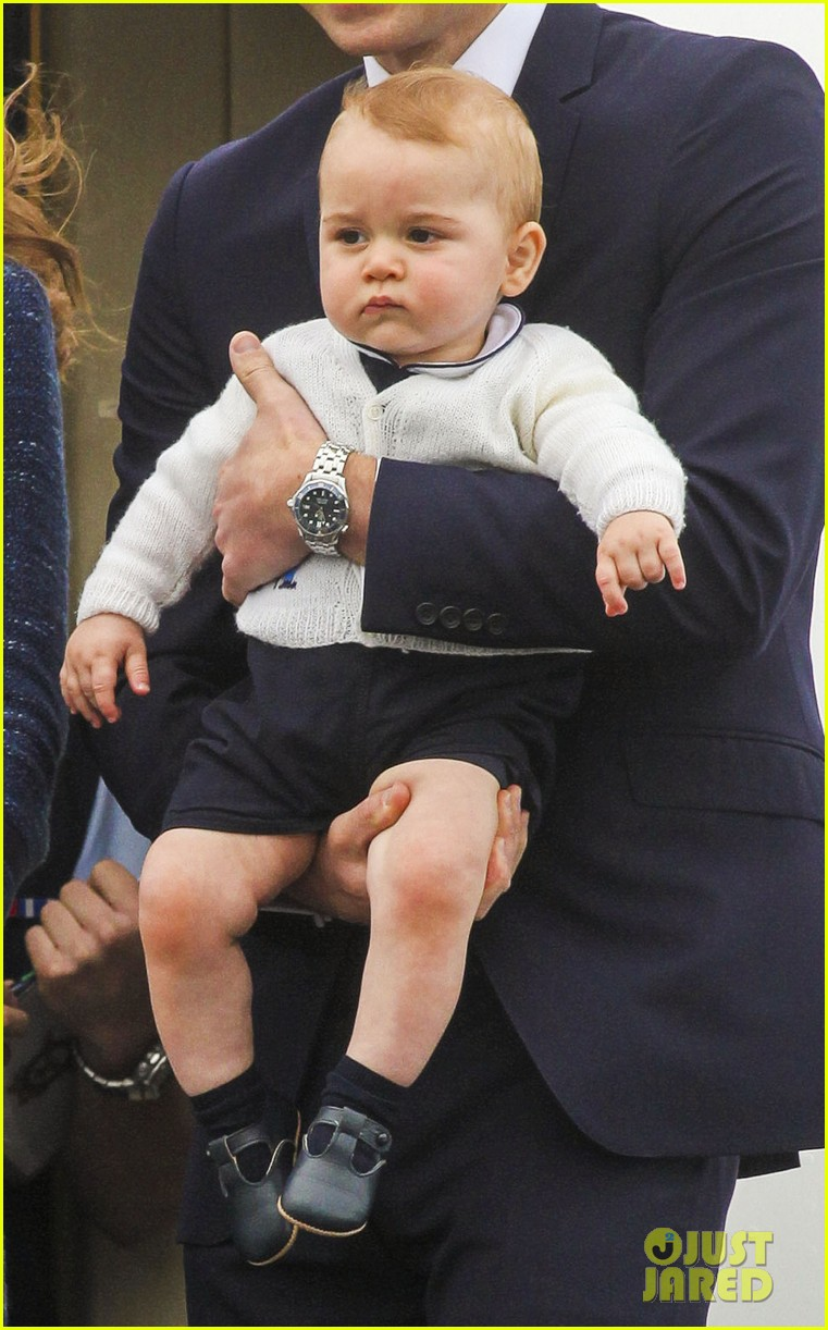 prince george makes appearance parents play with puppies 313092966