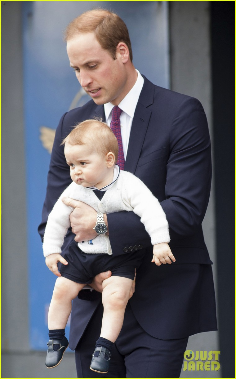 prince george makes appearance parents play with puppies 383092973