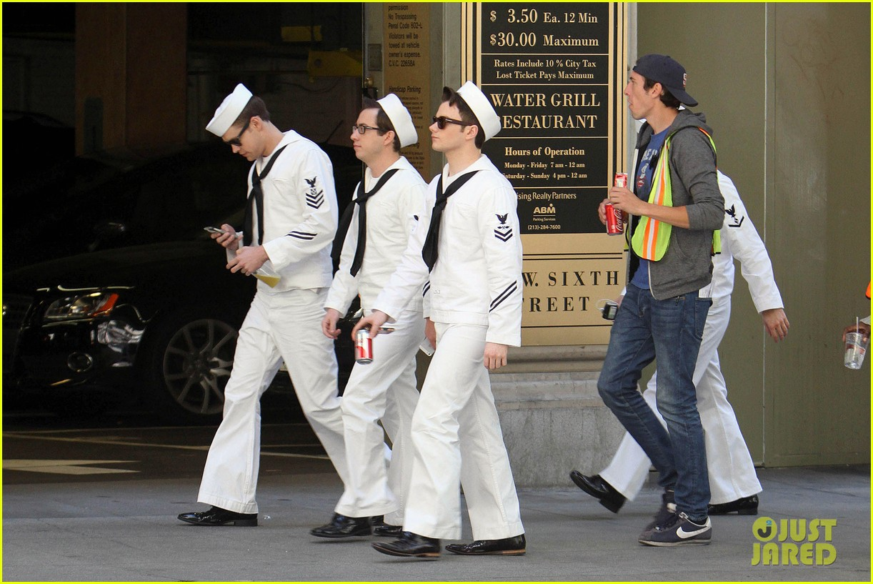 glee guys transform into super hot sailors check out their vintage fleet week looks 013083304