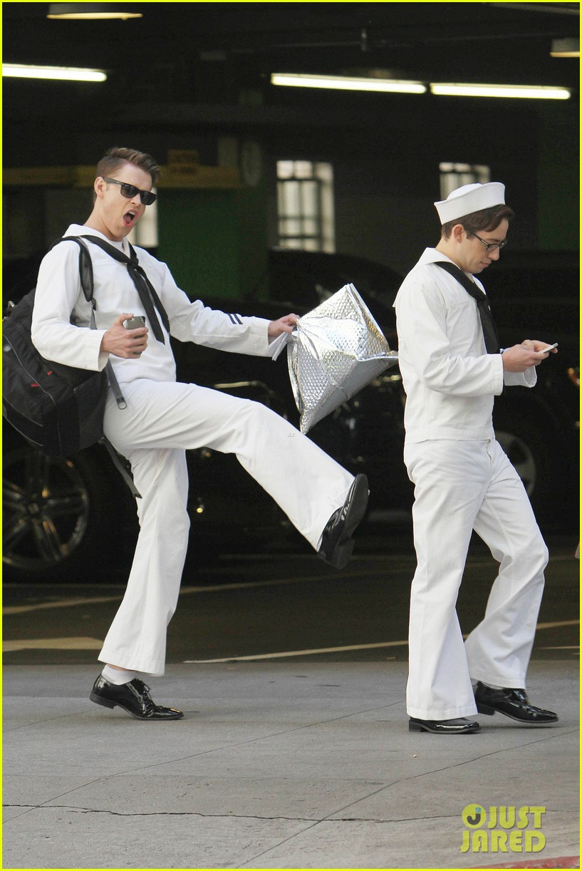 glee guys transform into super hot sailors check out their vintage fleet week looks 033083306