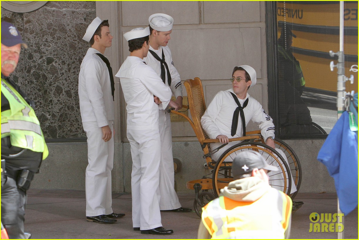 glee guys transform into super hot sailors check out their vintage fleet week looks 093083312