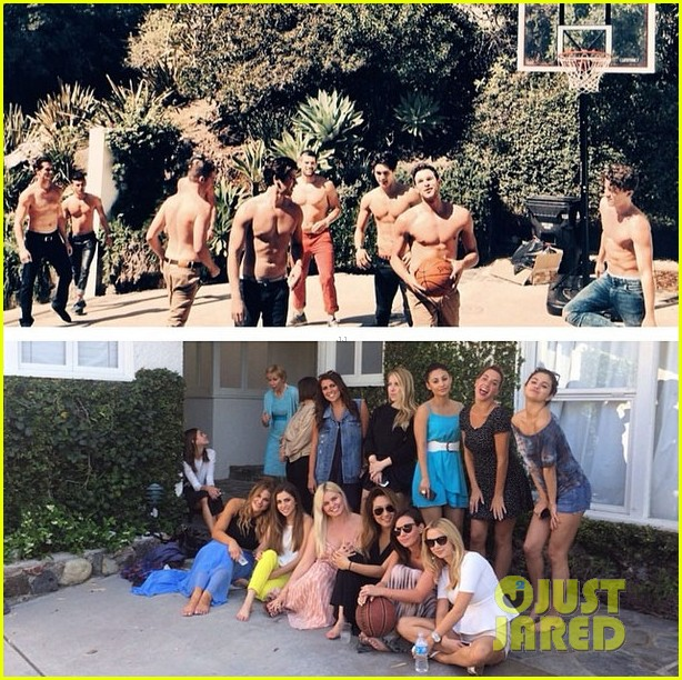 selena gomez spent easter sunday with tons of friends 023096262