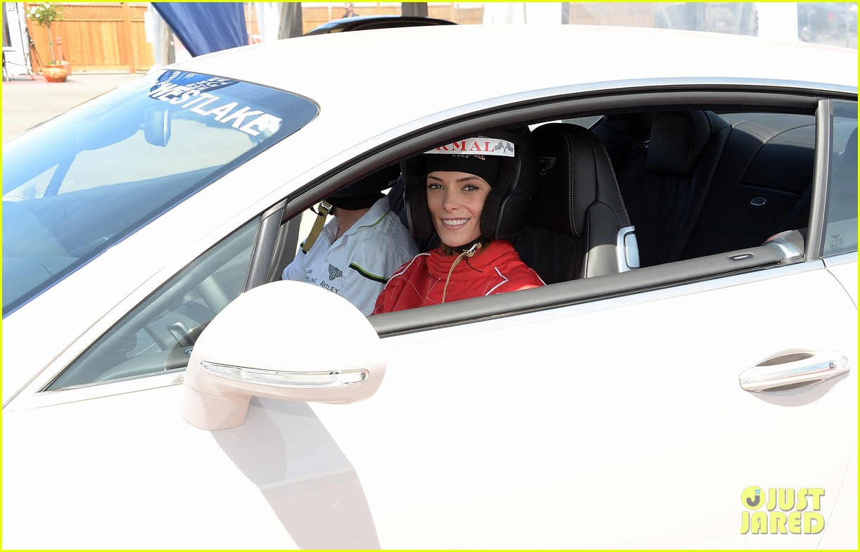 ashley greene kicks off coachella weekend race cars 063089006