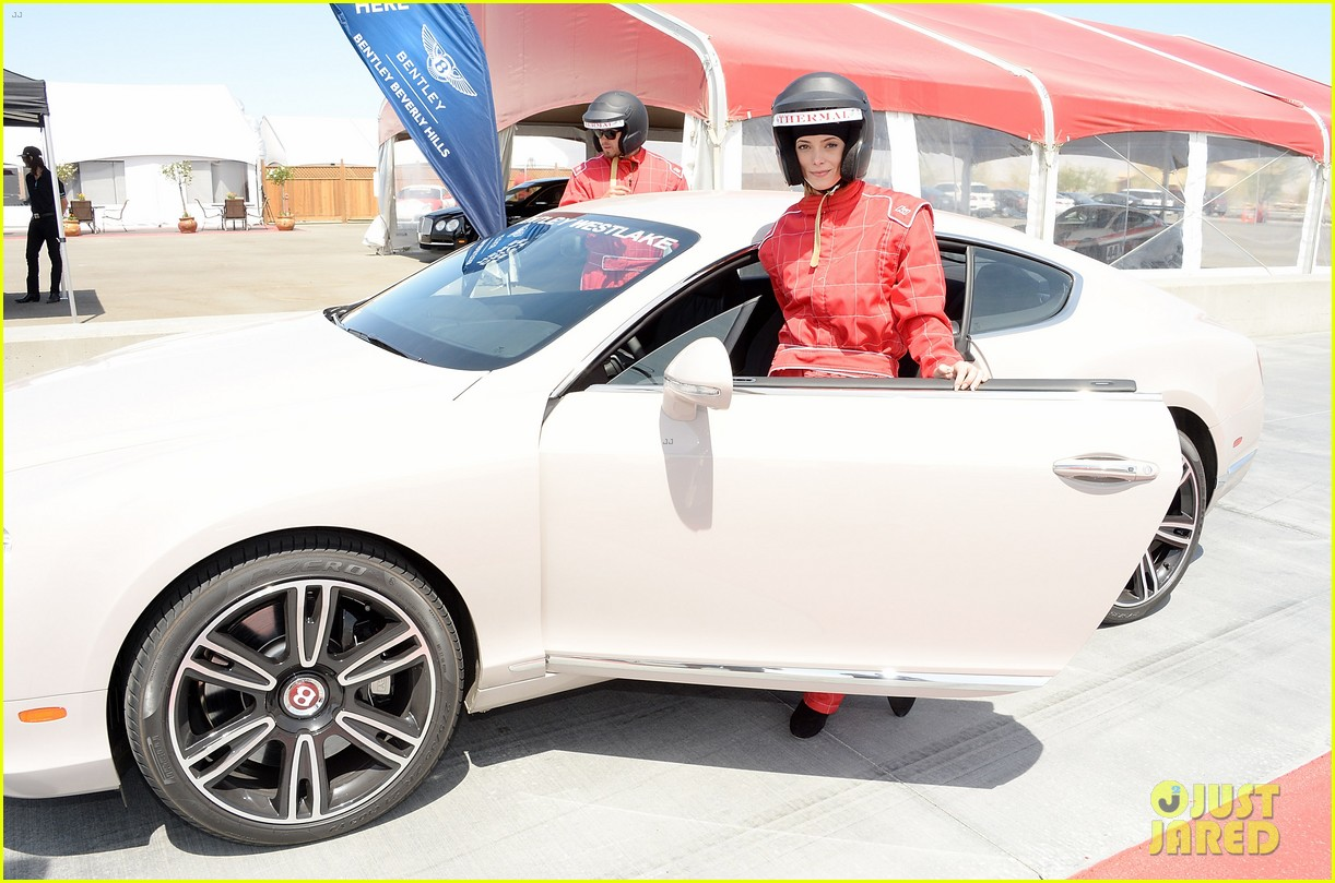 ashley greene kicks off coachella weekend race cars 073089007