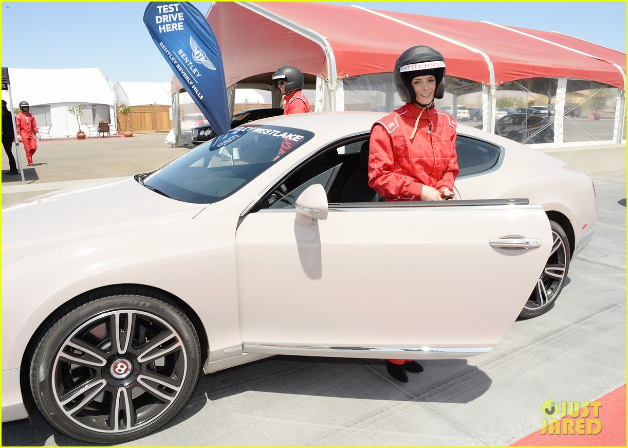 ashley greene kicks off coachella weekend race cars 083089008