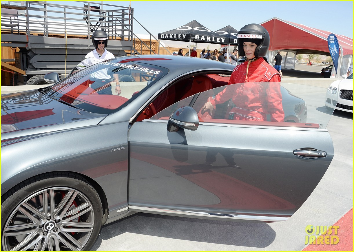 ashley greene kicks off coachella weekend race cars 093089009