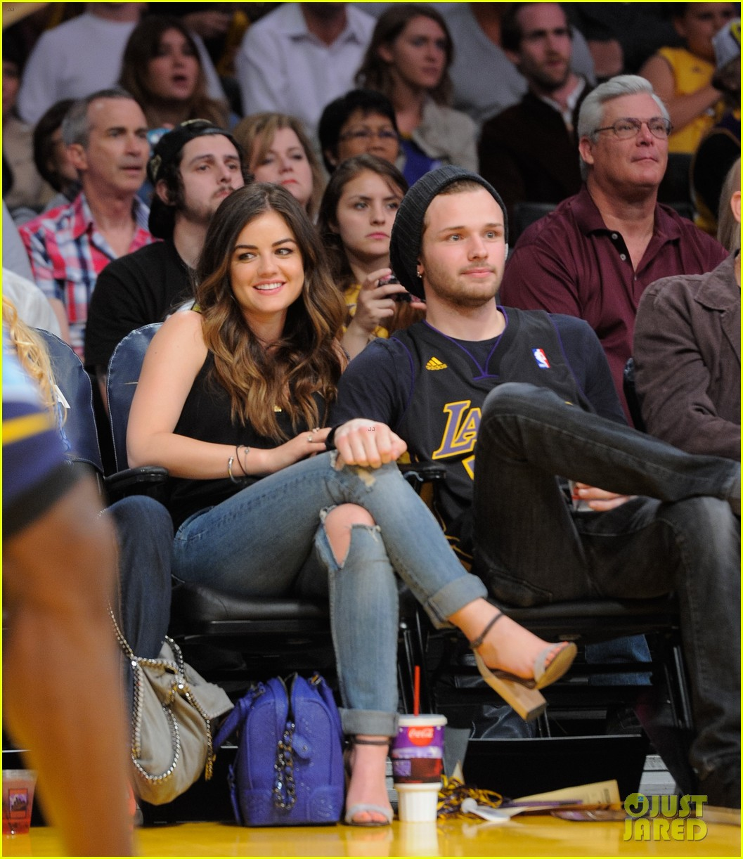 lucy hale lakers game joel crouse 033092133
