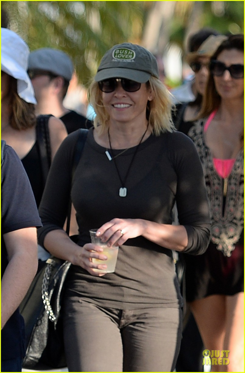 chelsea handler black bra in sheer top 043085132