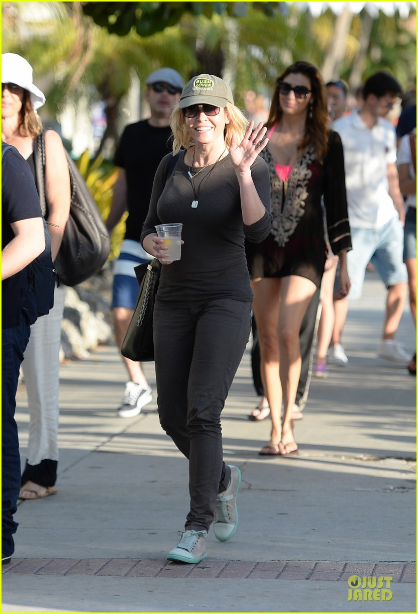 chelsea handler black bra in sheer top 053085133