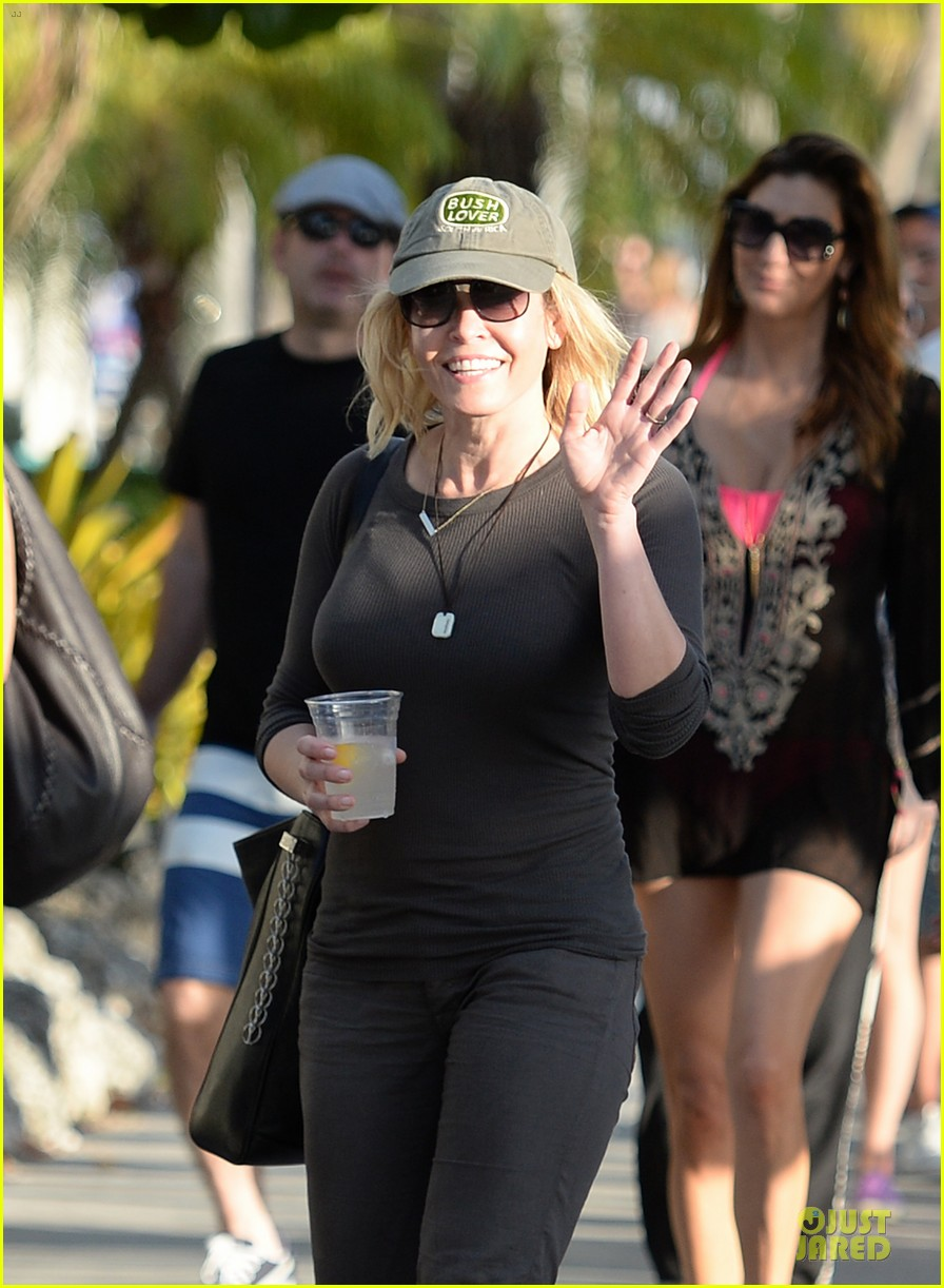 chelsea handler black bra in sheer top 103085138