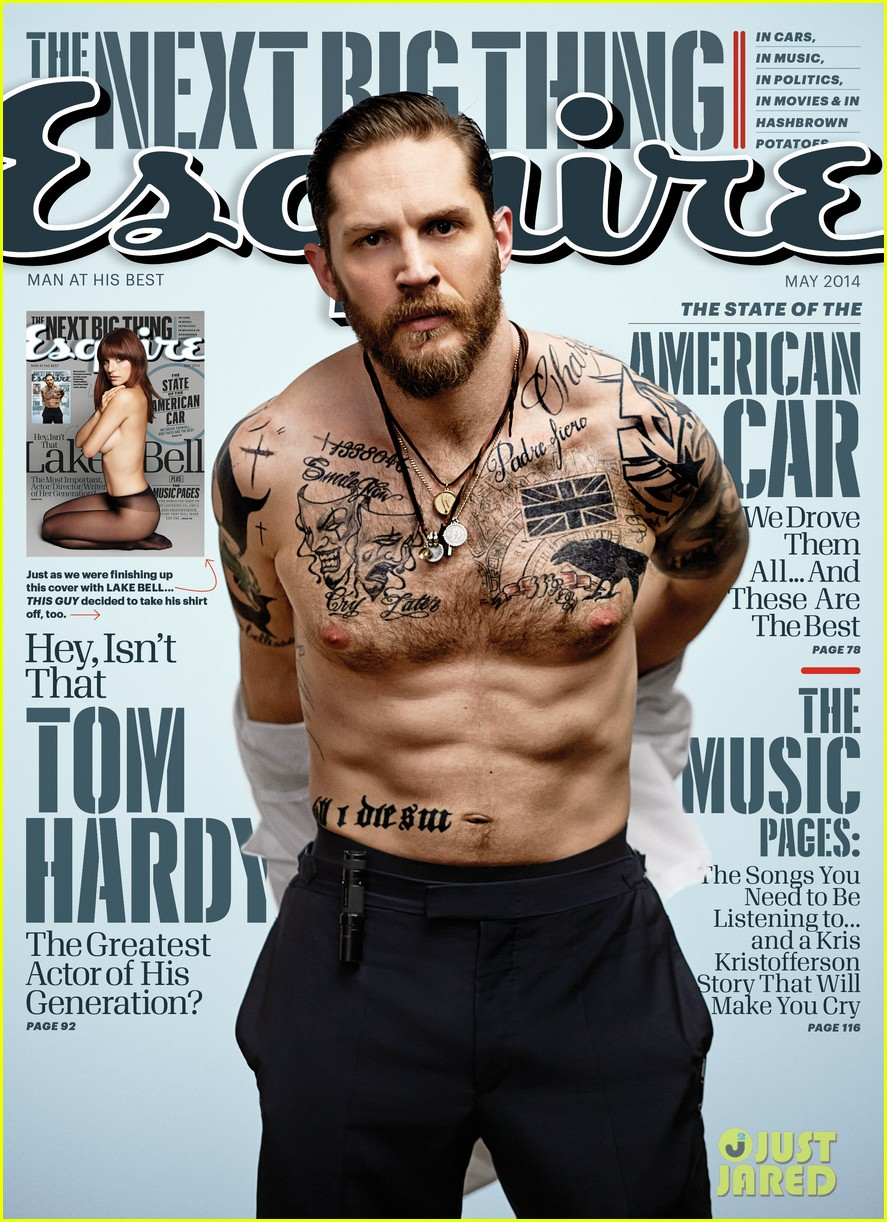 tom hardy strips down shirtless for esquire 023088496