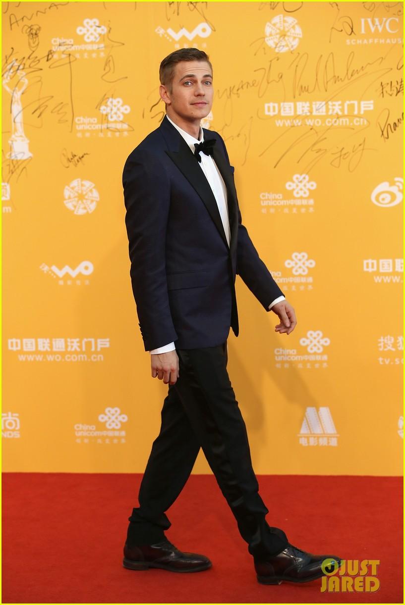 hayden christensen looks so handsome in tuxedo beijing film festival 093093755