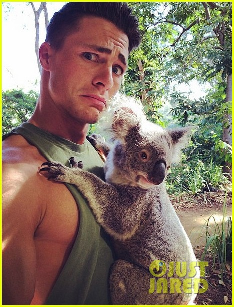 colton haynes giant pecs take over this shirtless pic 023099992