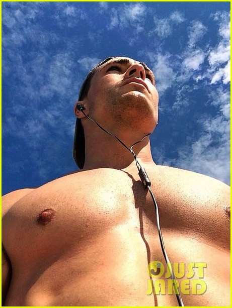 colton haynes giant pecs take over this shirtless pic 05