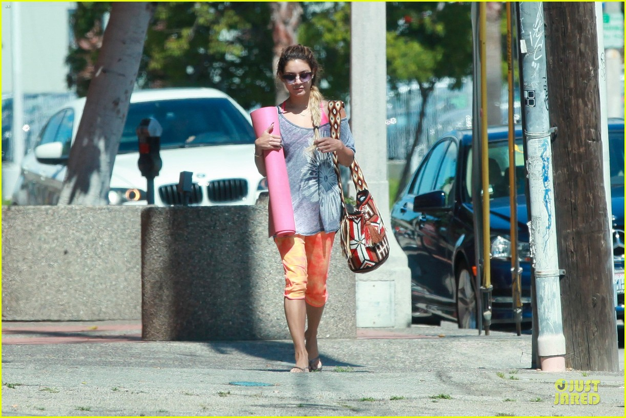 vanessa hudgens braids for yoga session 16