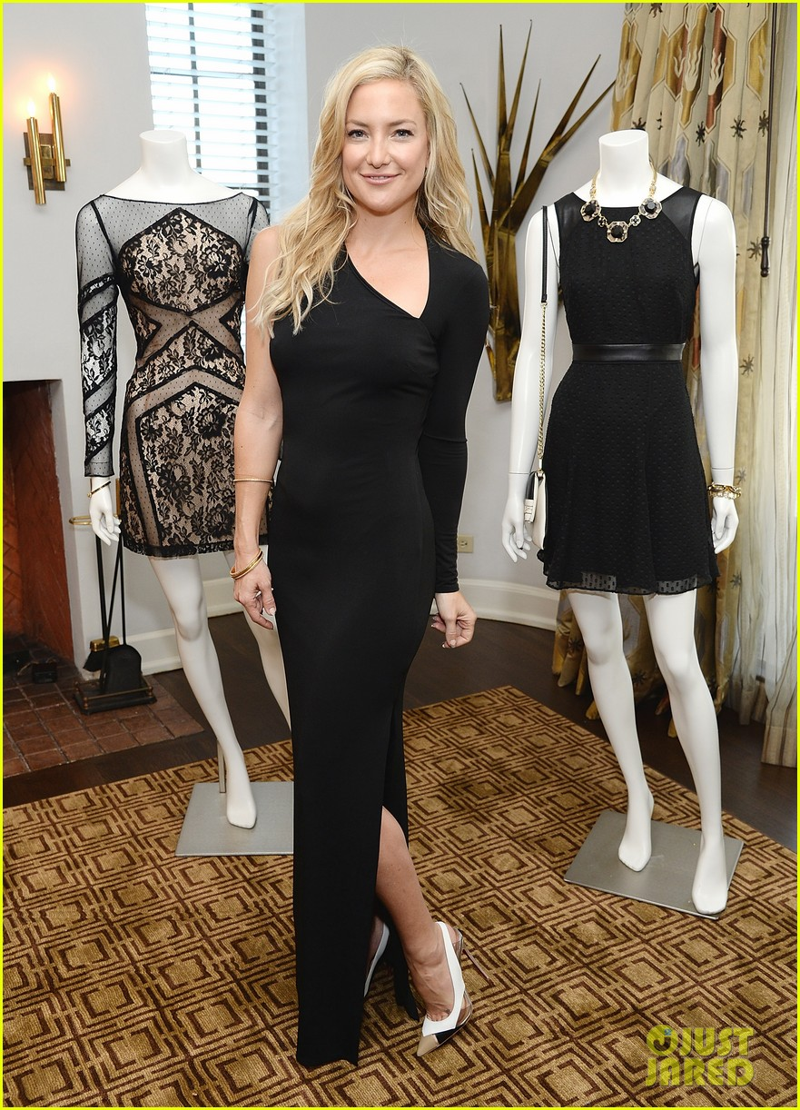 kate hudson sleek chic for anne taylor little black dress collection 123087509