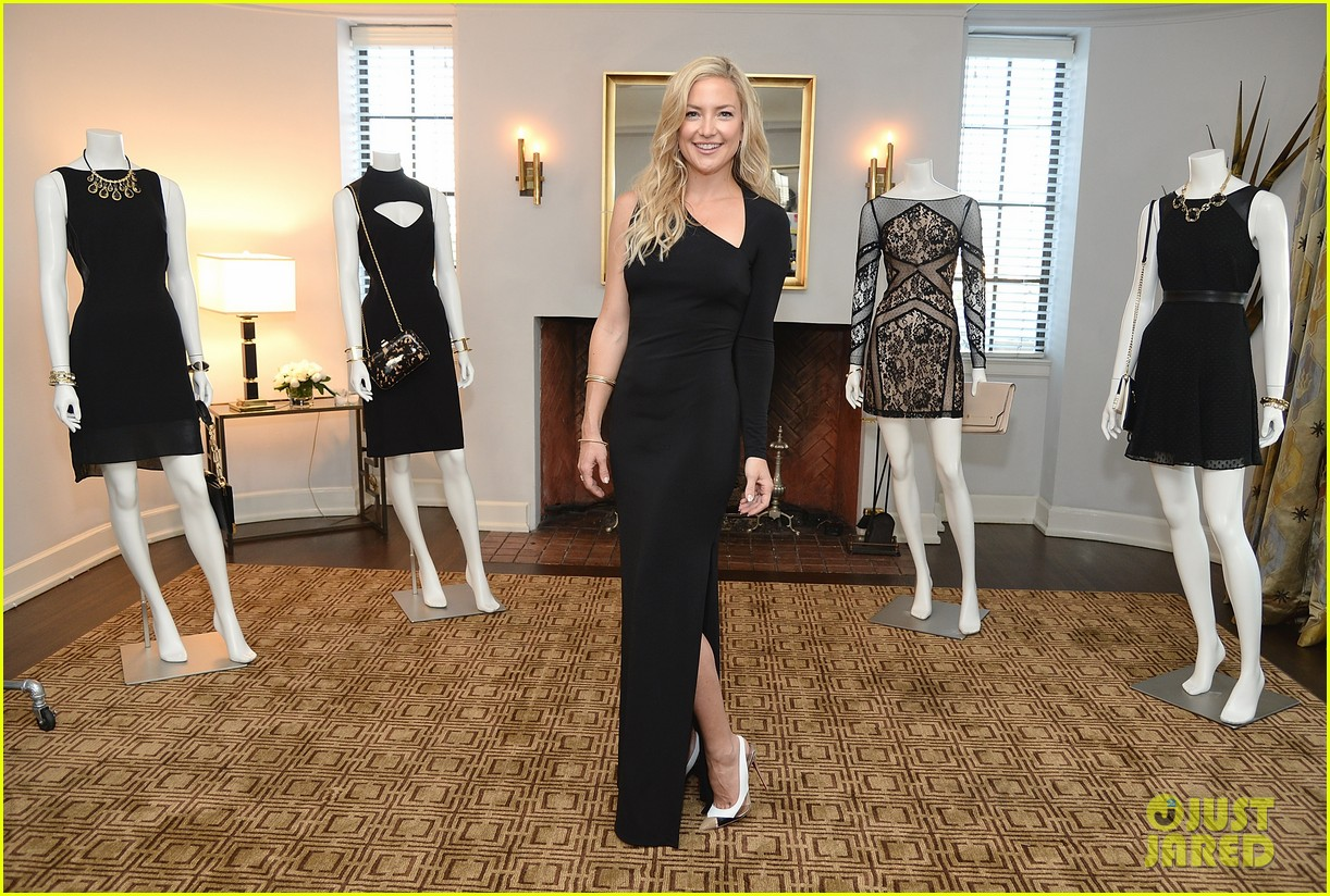 kate hudson sleek chic for anne taylor little black dress collection 183087515