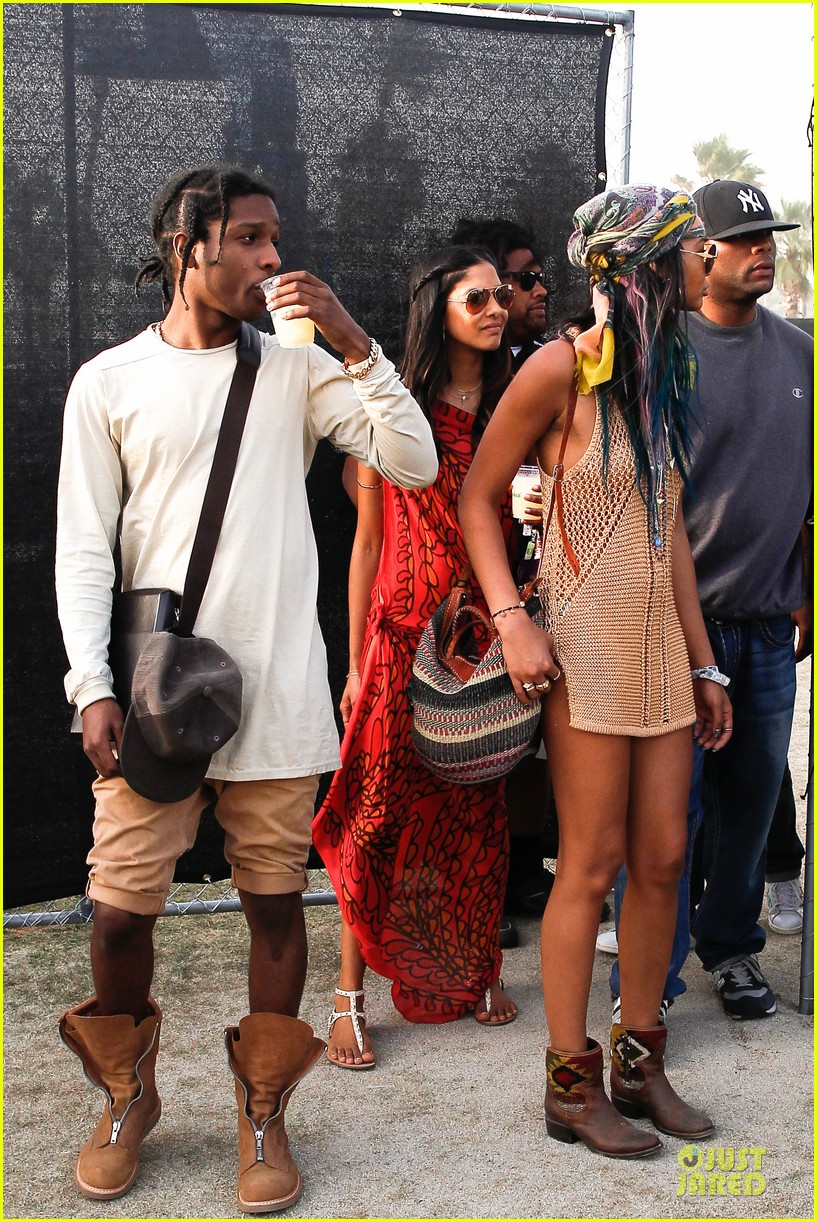 chanel iman asap rocky relaxes at coachella 113092479
