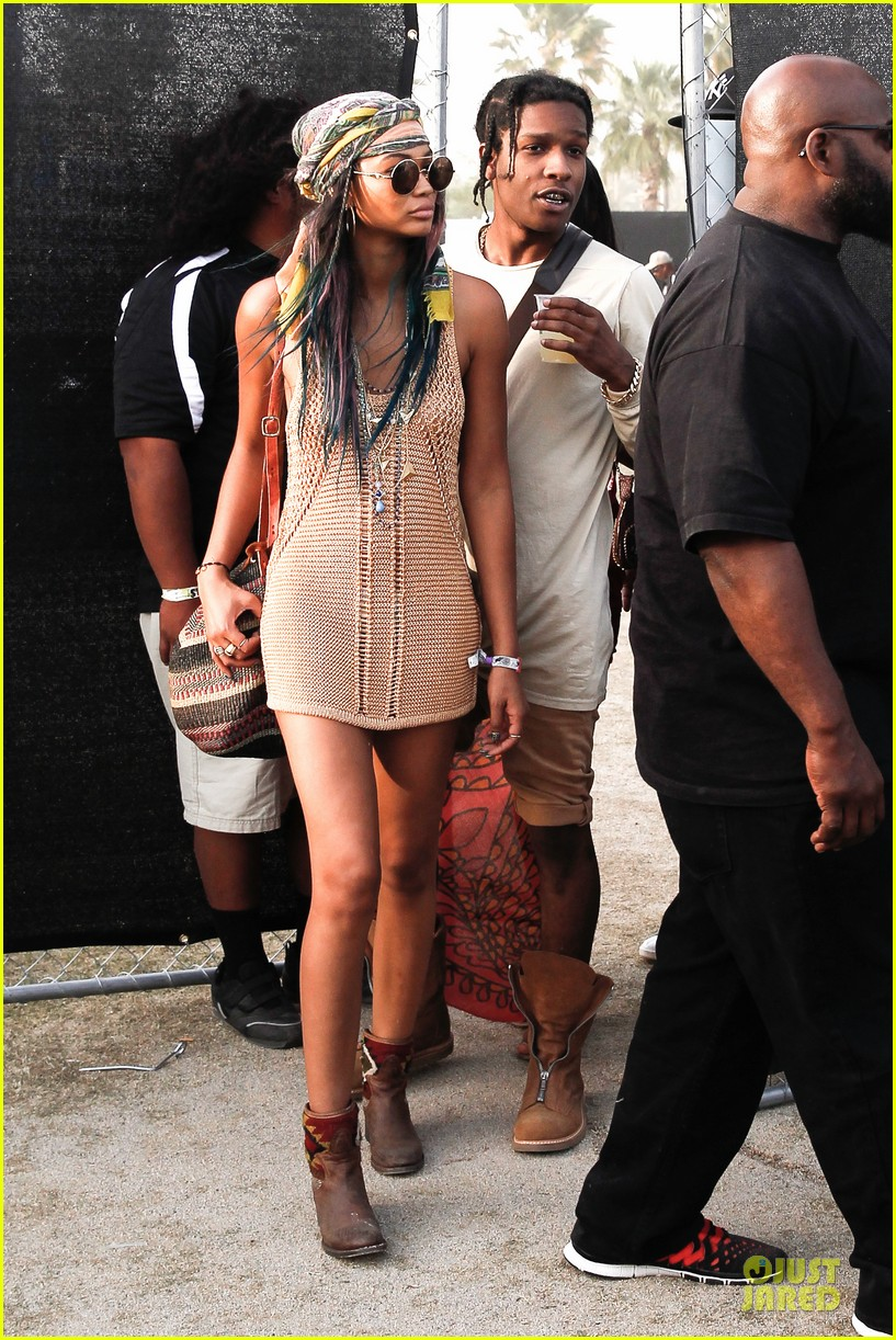 asap rocky and chanel iman vogue images