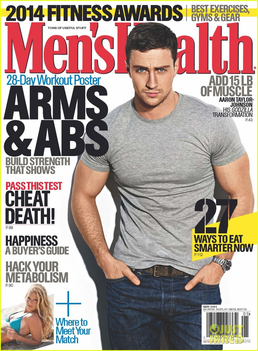 aaron taylor johnson is all muscle for mens health may 2014 023088461