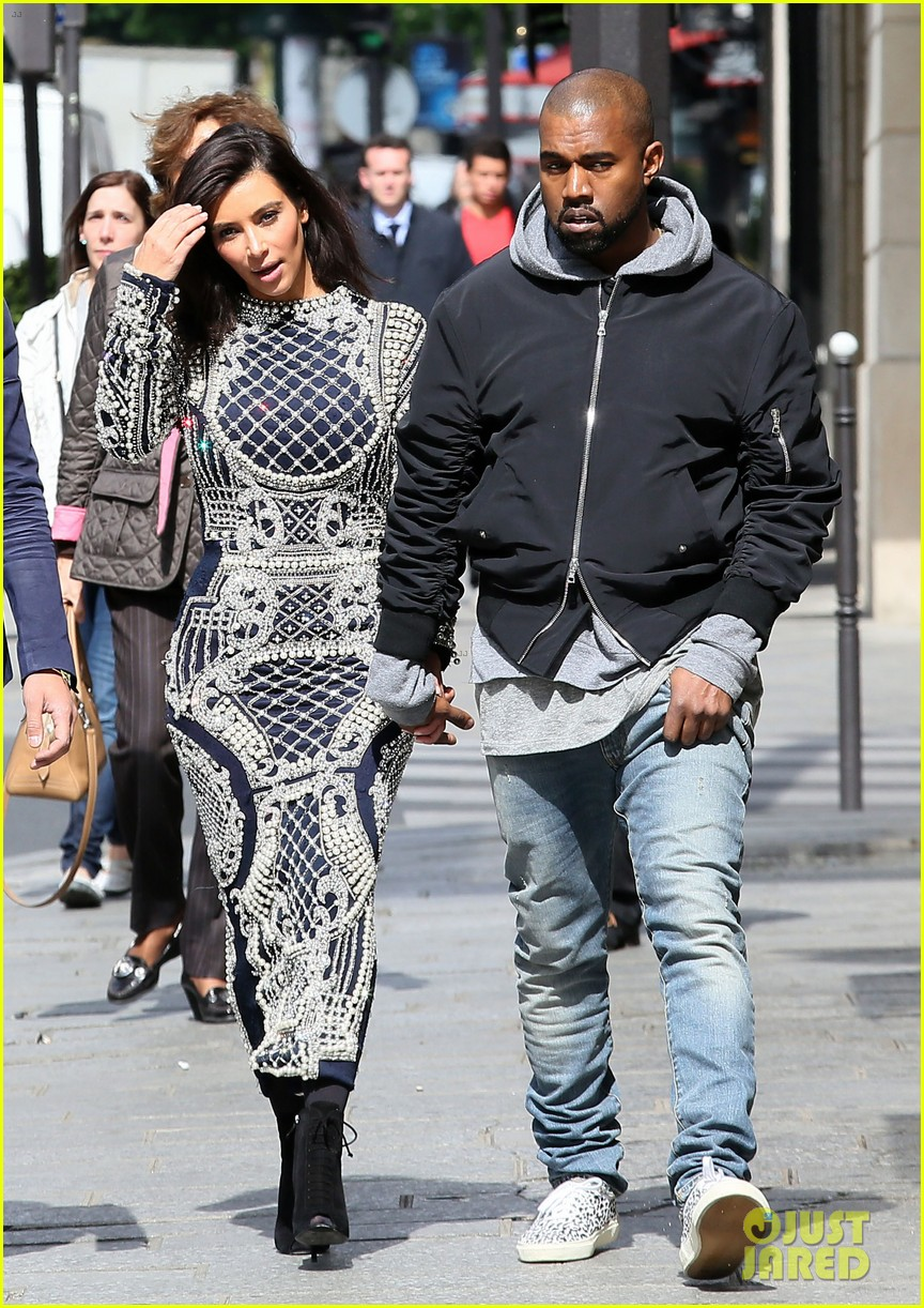 kim kardashian changes into two different dresses 053091980
