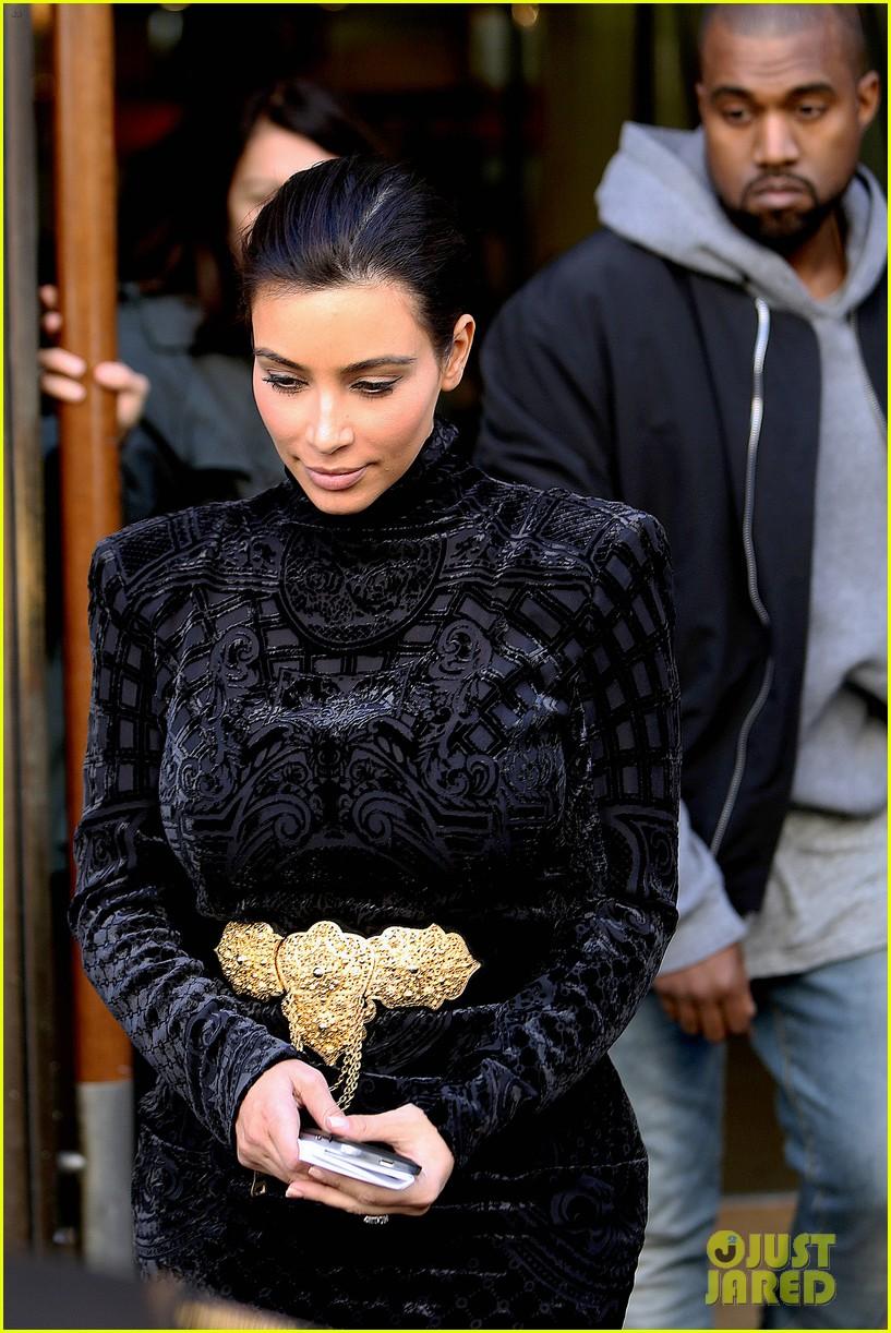 kim kardashian changes into two different dresses 123091987