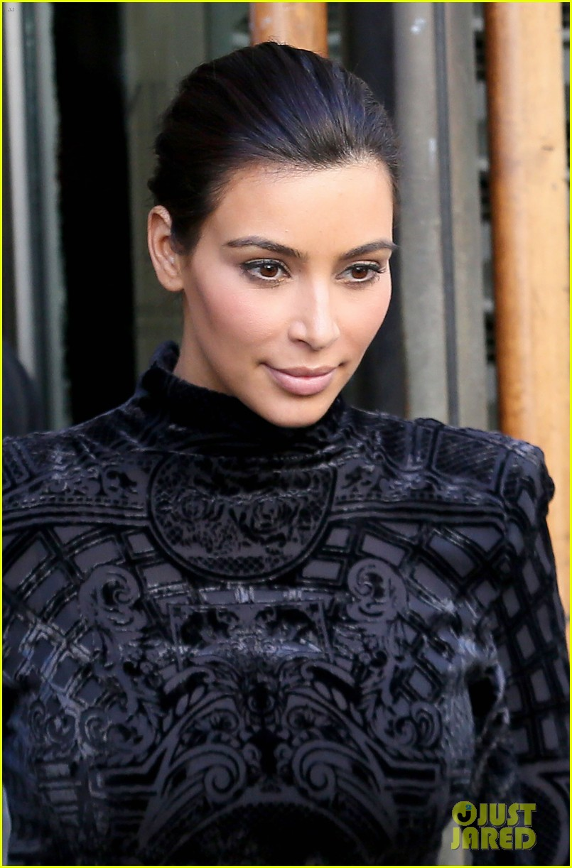kim kardashian changes into two different dresses 20