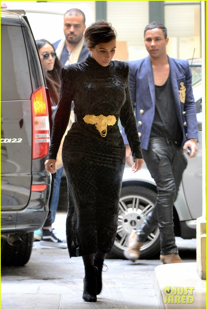 kim kardashian changes into two different dresses 243091999