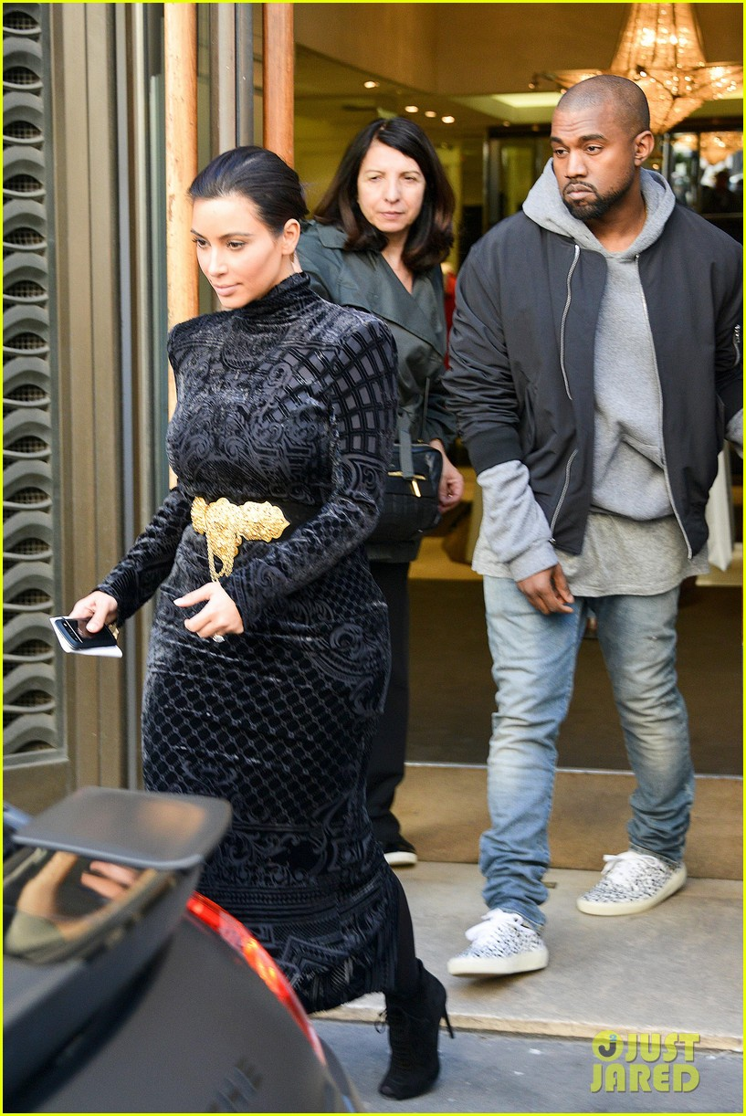 kim kardashian changes into two different dresses 25