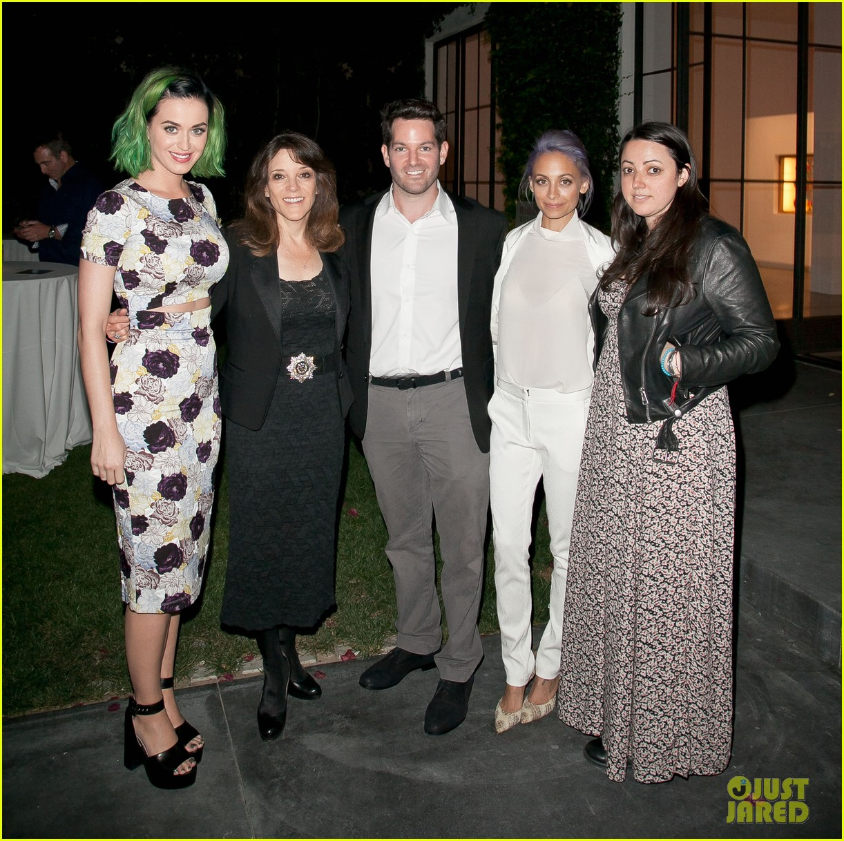 kim kardashian katy perry step out to support marianne williamson 04