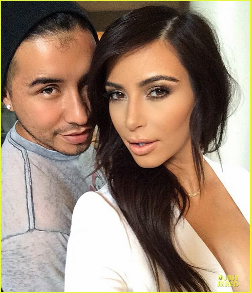 kim kardashian hot in plunging white dress 023089904