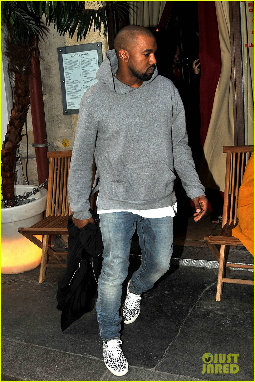 kim kardashian kanye west work out have lunch in paris 023091782