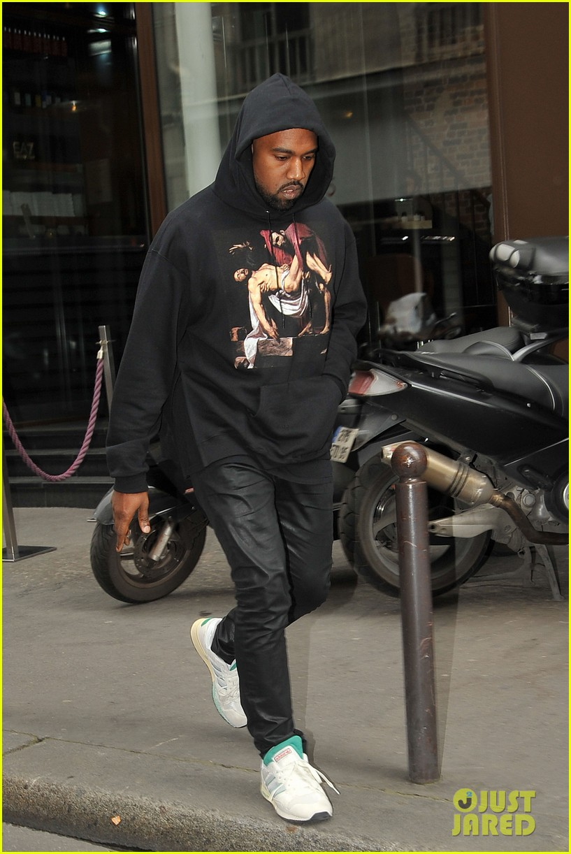kim kardashian kanye west work out have lunch in paris 063091786
