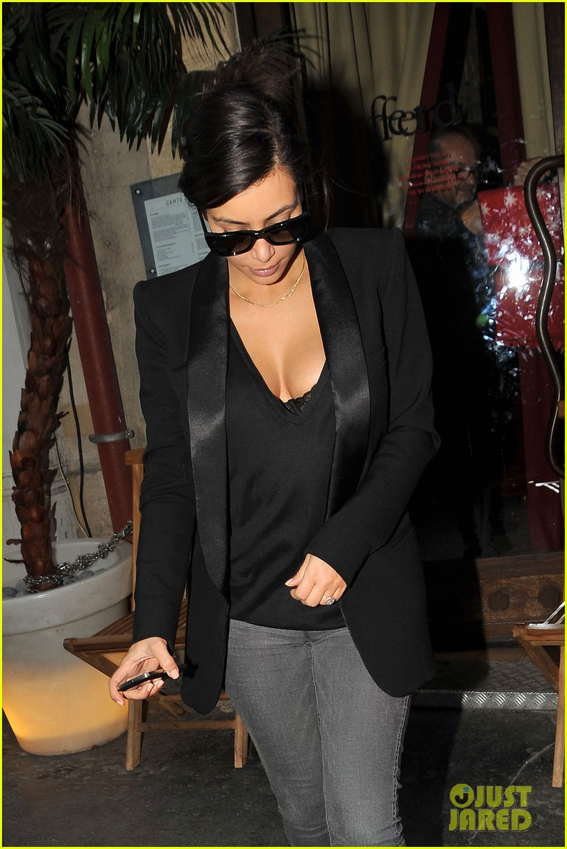 kim kardashian kanye west work out have lunch in paris 183091798