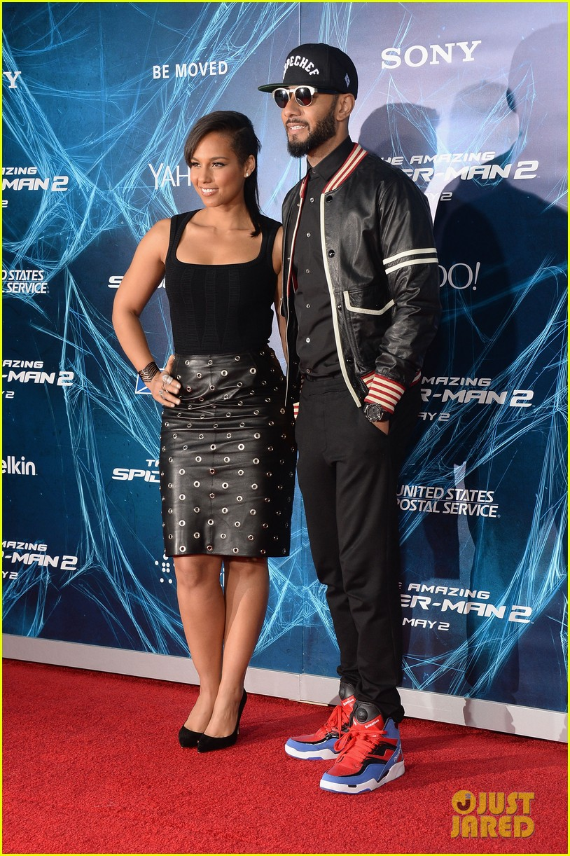 alicia keys pharrell williams amazing spider man 2 premiere 14