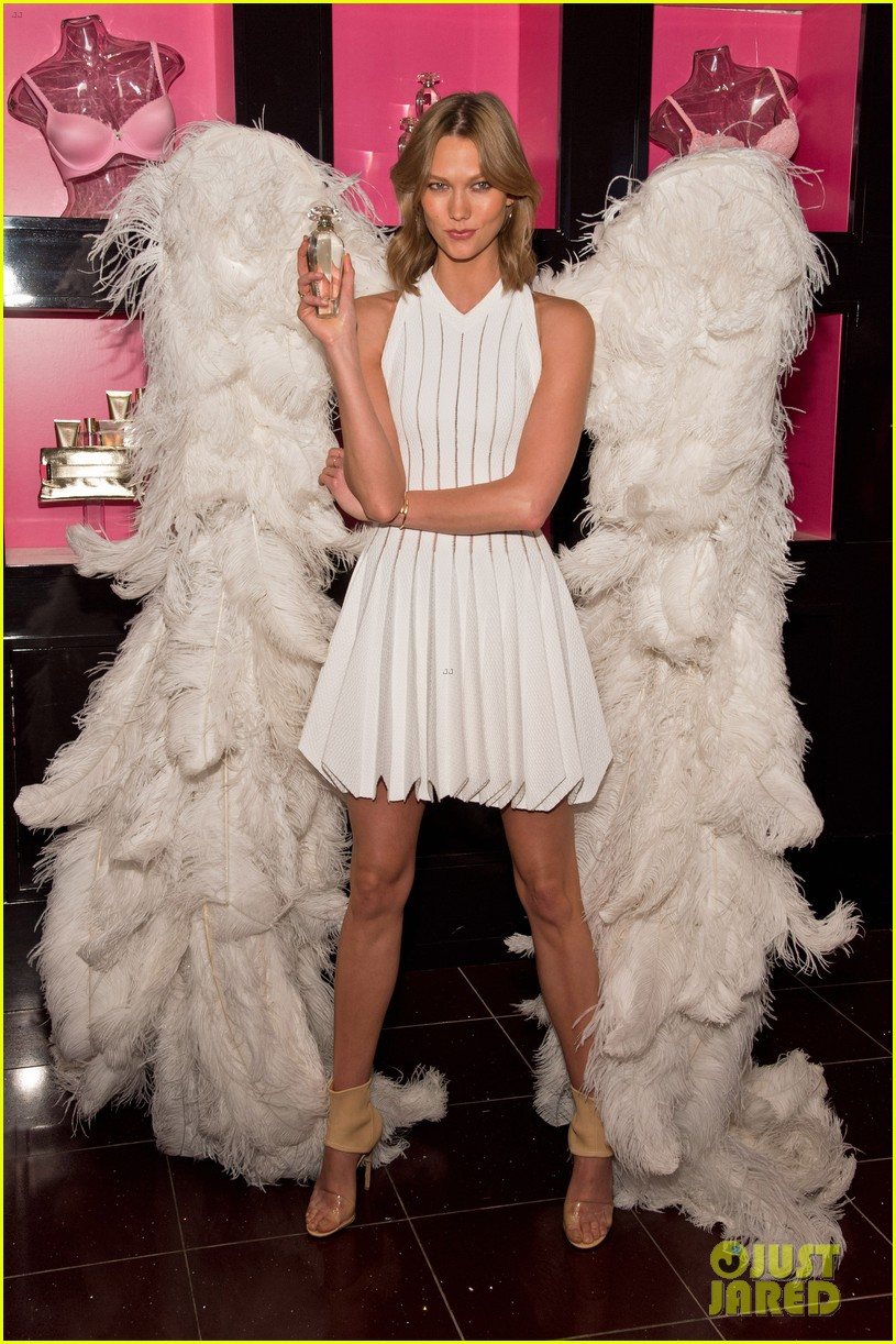 karlie kloss spreads her wings at victorias secret heavenly launch 093102216