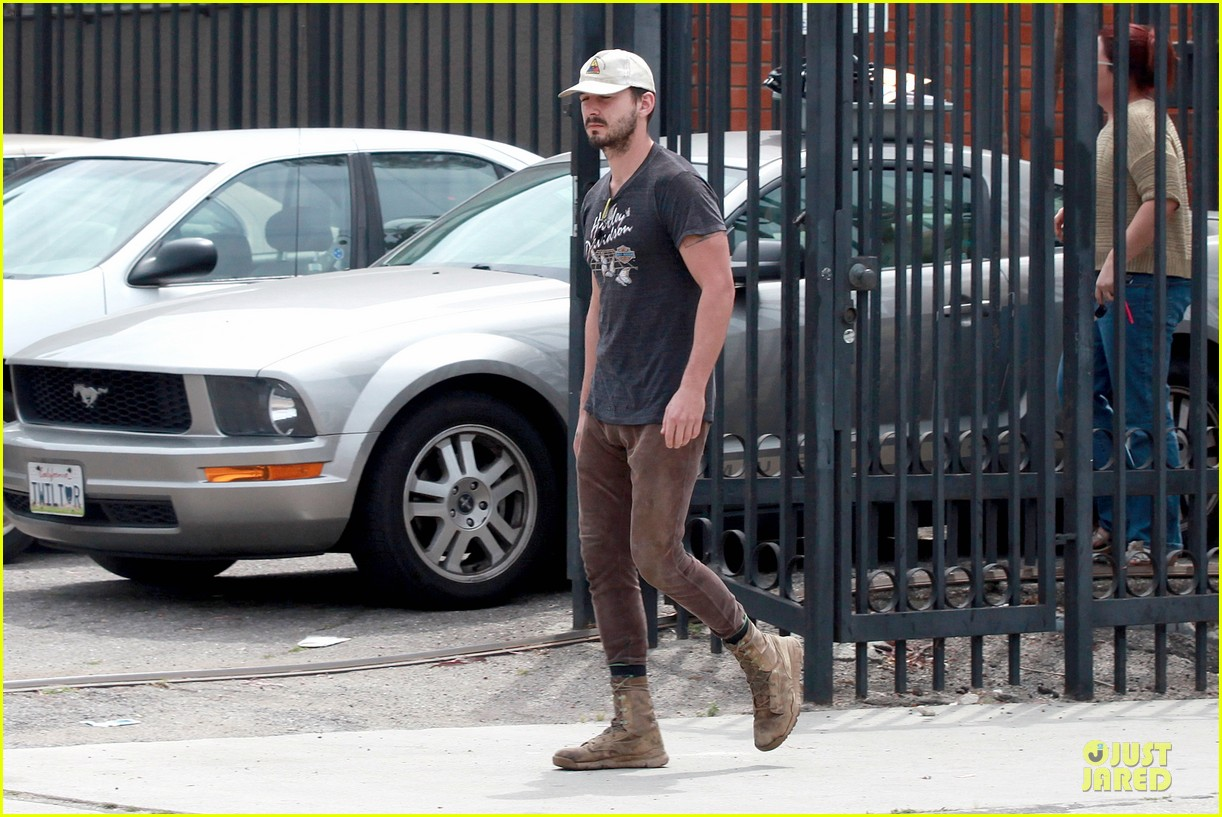 Shia LaBeouf Is Now Out of Office in a Harley Davidson Shirt!: Photo