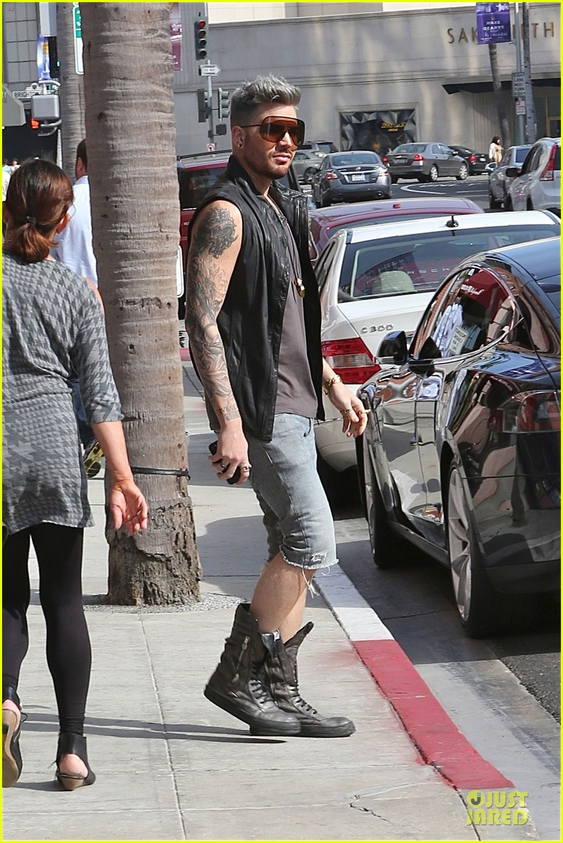 adam lambert tattooed guns sight you can miss 023096554