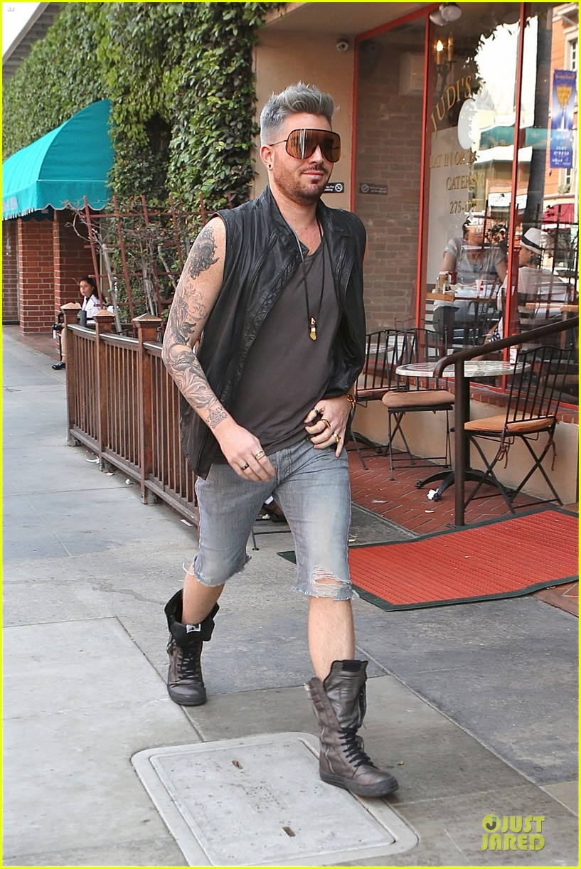 adam lambert tattooed guns sight you can miss 07