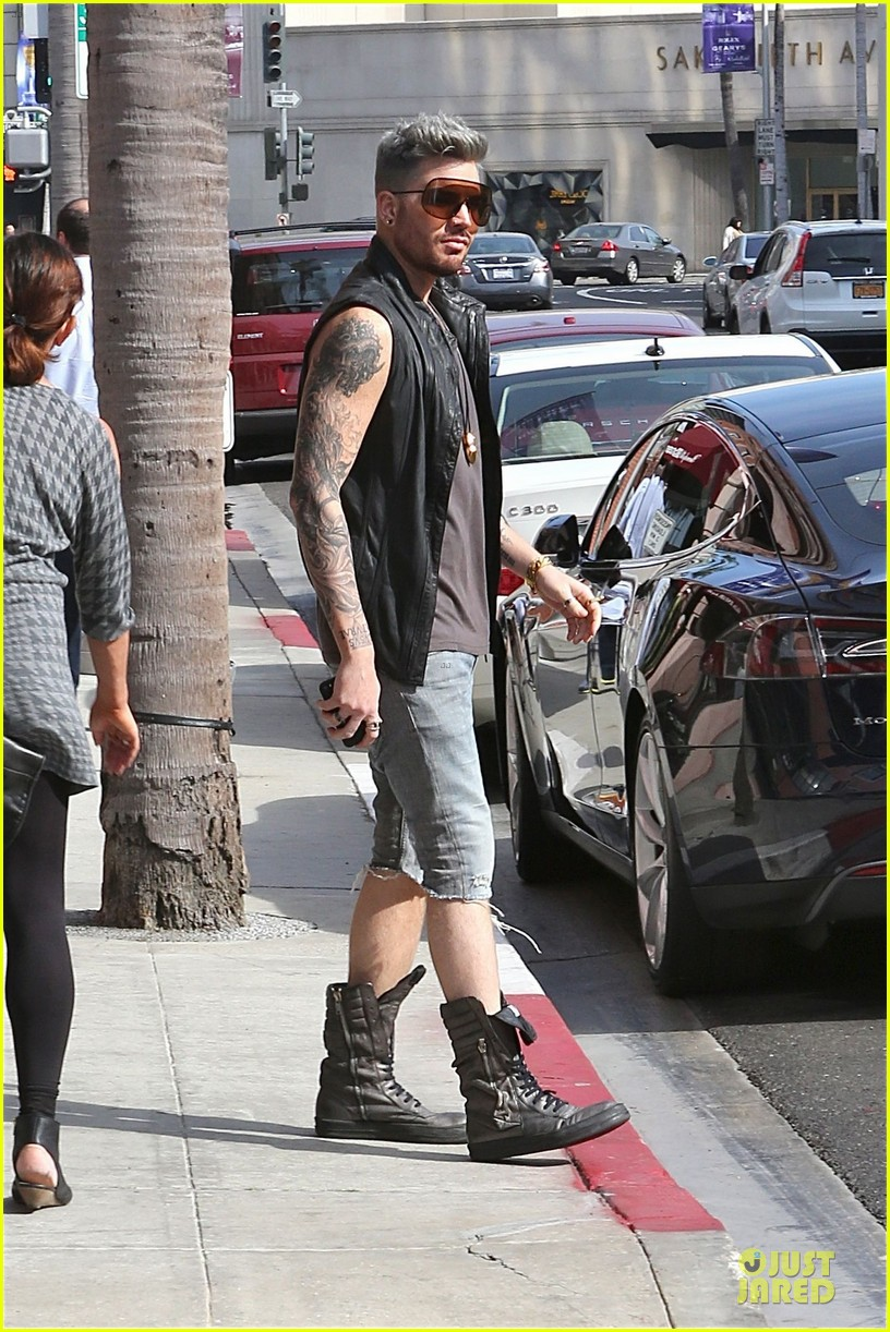 adam lambert tattooed guns sight you can miss 103096562