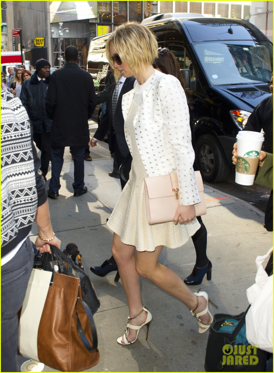 jennifer lawrence goes glam for gma spends easter in nyc 033096125