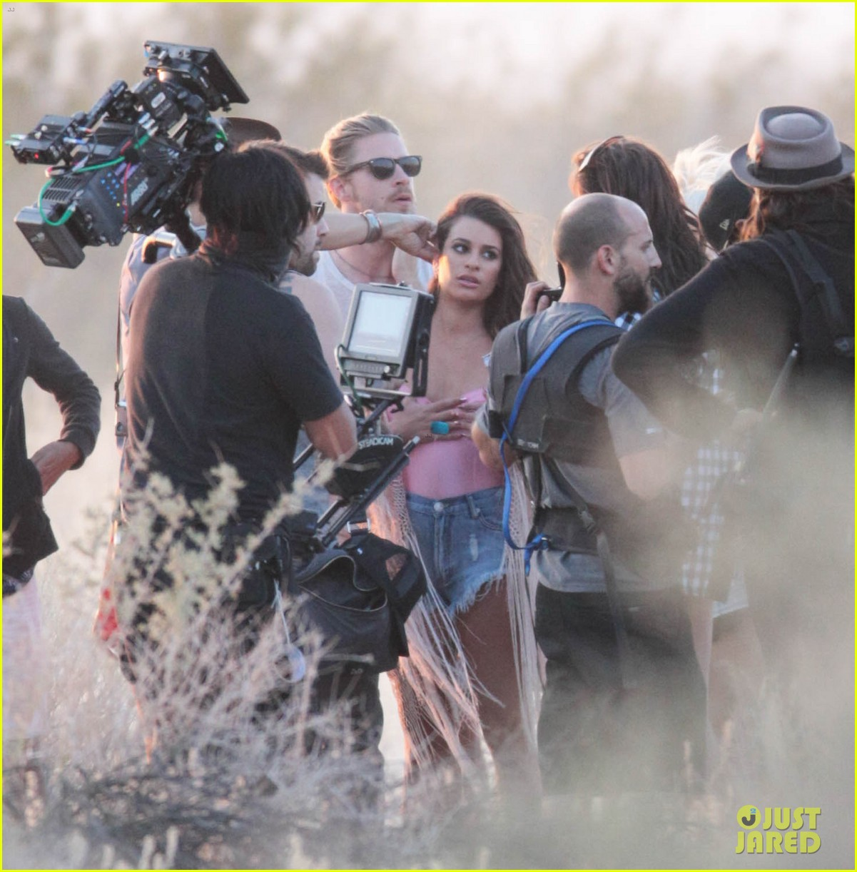 lea michele cozy co star music video set 123095718