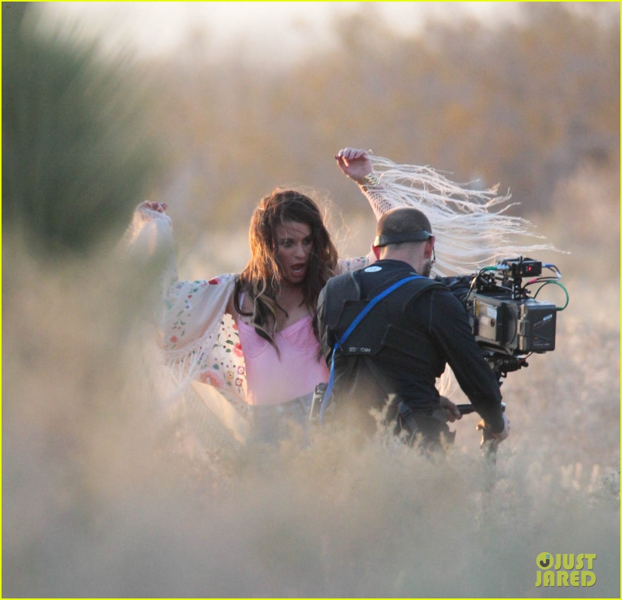 lea michele cozy co star music video set 17