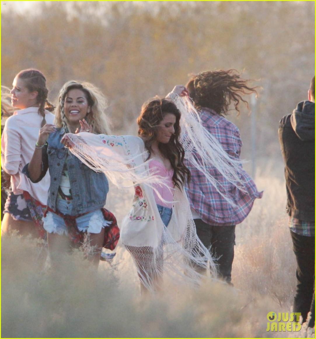 lea michele cozy co star music video set 333095739