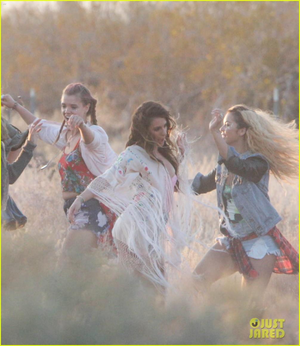 lea michele cozy co star music video set 353095741