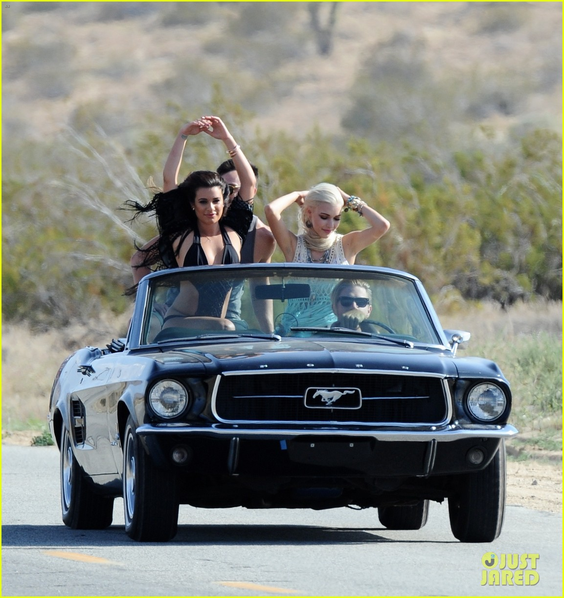 lea michele bikini on my way music video shoot 053095553
