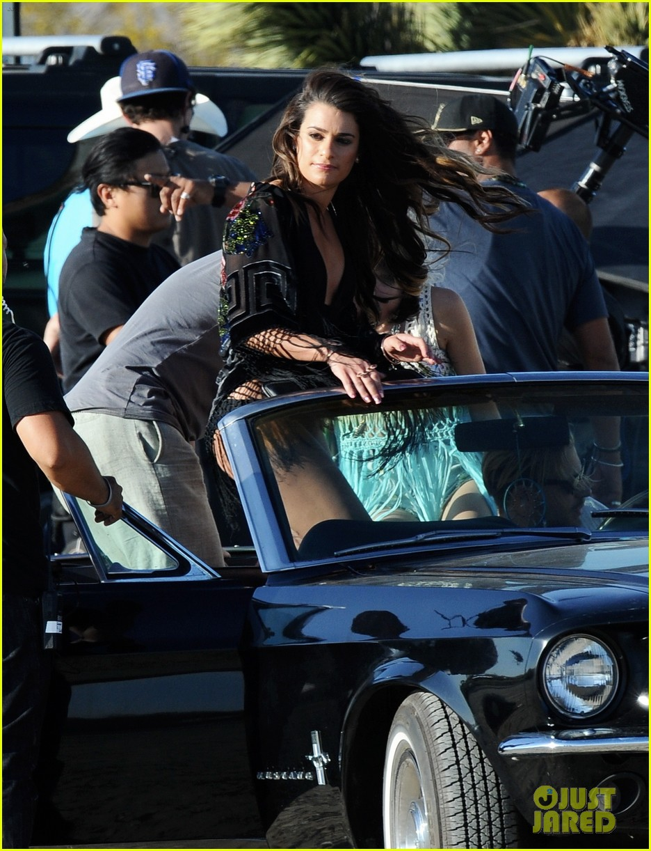 lea michele bikini on my way music video shoot 083095556