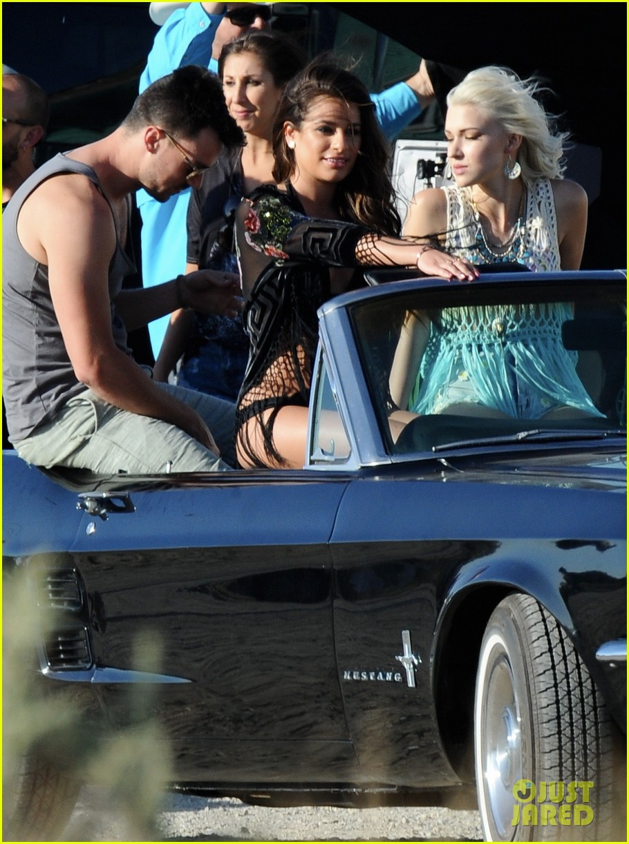lea michele bikini on my way music video shoot 223095570