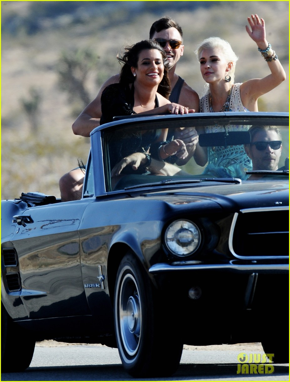 lea michele bikini on my way music video shoot 253095573